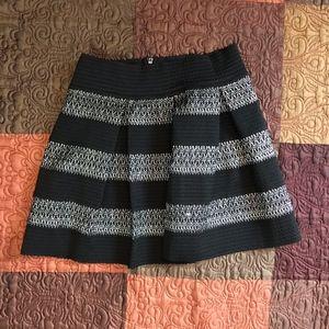 Ginger G Anthropologie Black Silver Skirt Size L